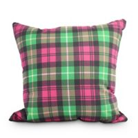 Tartan Plaid Square Throw Pillow in Red