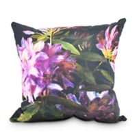 Floral Dream Square Throw Pillow in Black