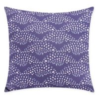 Fan Dance Square Throw Pillow in Purple
