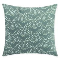 Fan Dance Square Throw Pillow in Green