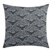 Fan Dance Square Throw Pillow in Black