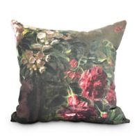 Floral Fancy Square Throw Pillow in Red