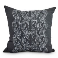 E By Design Dotted Focus Square Throw Pillow in Black