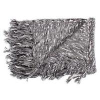 Moe's Home Collection Dorothy Throw Blanket in Dark Grey