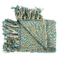 Moe's Home Collection Heidi Throw Blanket in Teal