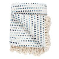 Moe's Home Collection Satri Throw Blanket in Blue