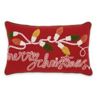Mina Victory Merry Christmas Oblong Throw Pillow in Red