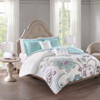 510 Design Elizabeth 5-Piece Reversible Full/Queen Comforter Set in Aqua
