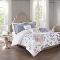 510 Design Elizabeth Reversible King/California King Duvet Cover Set in Indigo