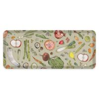 "GelPro® 20"" x 48"" Fruit & Vegetable Anti-Fatigue Kitchen Mat in Stone"