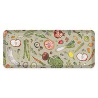 "GelPro® 20"" x 48"" Fruit & Vegetable Anti-Fatigue Kitchen Mat in Stone"