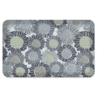 """NewLife® by GelPro® Sunflowers 20"""" x 32"""" Designer Comfort Mat in Moody Blue"""