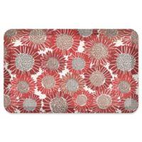 "NewLife® by GelPro® Sunflowers 20"" x 32"" Designer Comfort Mat in Ripe Cherry"