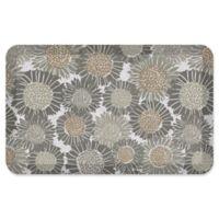 "NewLife® by GelPro® Sunflowers 20"" x 32"" Designer Comfort Mat in Smokey Taupe"