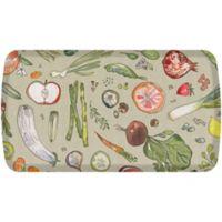 "GelPro® Elite Comfort 20"" x 48"" Fruits & Vegetables Kitchen Mat in Warm Stone"