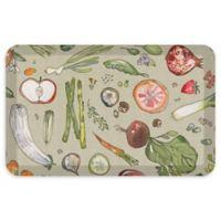 "GelPro® Comfort 20"" x 32"" Fruits and Veggies Kitchen Mat in Warm Stone"