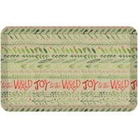 "GelPro® Comfort ""Joy to the World"" 20"" x 48"" Kitchen Mat in Khaki"