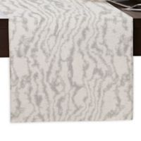 Marble Print 90-Inch Table Runner in Grey