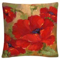 Trademark Fine Art Rio Poppies Square Throw Pillow