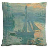 Trademark Fine Art Monet Sunrise Square Throw Pillow