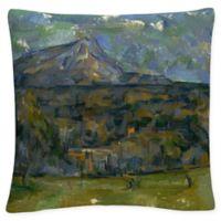 Paul Cezanne Mont Sainte Victoire Square Throw Pillow