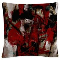 Masters Fine Art Abstract Square Throw Pillow in Burgundy