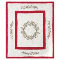 Berry Garland Throw Blanket in Red