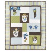 Ernie Snowman Quilted Throw Blanket in Green