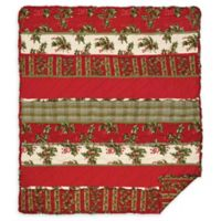 Holly Ruffle Throw Blanket in Red