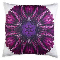 Marseille Digital Square Throw Pillow in White/Purple