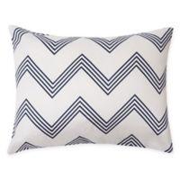 Marseille Chevron Oblong Throw Pillow in White/Black