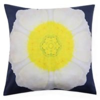 Marseille Digital Square Throw Pillow in White/Yellow