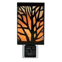 Himalayan Glow Tree Design Nightlight, Wall Plugin in Natural