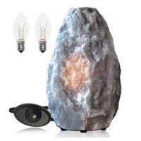 Himalayan Glow Salt Lamp, Gray Naked Salt Lamp in Grey/natural