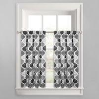 Priya Ogee 45-Inch Window Curtain Tier Pair in Grey