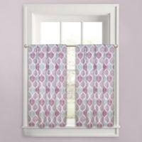Priya Ogee 45-Inch Window Curtain Tier Pair in Plum