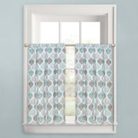 Priya Ogee 45-Inch Window Curtain Tier Pair in Aqua