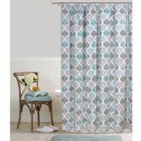 Priya Ogee 72-Inch x 72-Inch Shower Curtain in Aqua
