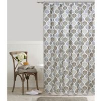 Priya Ogee 72-Inch x 84-Inch Shower Curtain in Natural