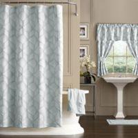 Horizons 54-Inch x 78-Inch Geometric Shower Curtain in Blue