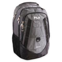 FILA Spike 18.5-Inch Laptop Backpack in Grey/Black