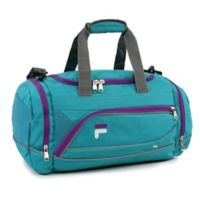 FILA Sprinter Small Duffle Bag in Teal/Purple