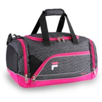 FILA Sprinter Small Duffle Bag in Grey/Pink