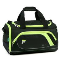 FILA Advantage Small Duffle Bag in Black/Lime