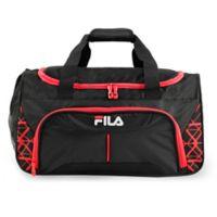FILA Fastpace 19-Inch Duffle Bag in Black/Red