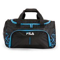 FILA Fastpace 19-Inch Duffle Bag in Black/Blue