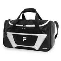 FILA Cannon III Duffle Bag in Black/White