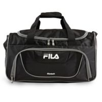 FILA Ace II Small Duffle Bag in Black/Grey