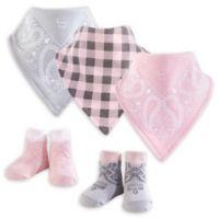 Hudson Baby Size 0-9M 5-Piece CowgirlBandana Bib & Socks Set in Pink