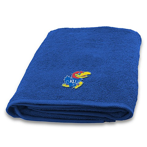 University of Kansas 100% Cotton Bath Towel